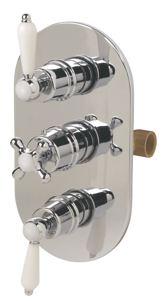 Swirl Victoriana Triple Control Thermostatic Mixer Shower Valve w/ Diverter
