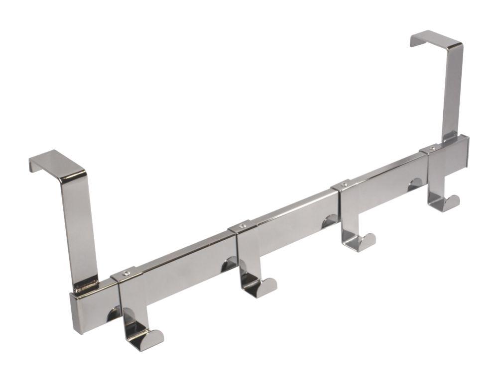 Siro Over-Door Hook Rail Polished Nickel 404 x 140mm