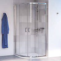 Aqualux Shine 6 Quadrant Shower Enclosure LH/RH Polished Silver 900 x 900 x 1900mm