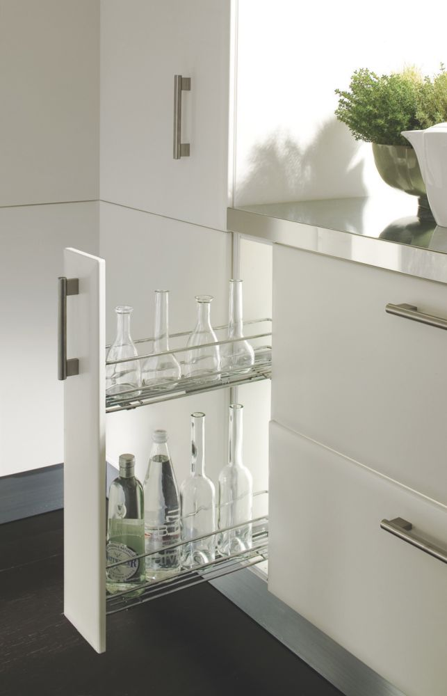 Hafele Pull-Out Storage Unit Chrome-Plated 150mm
