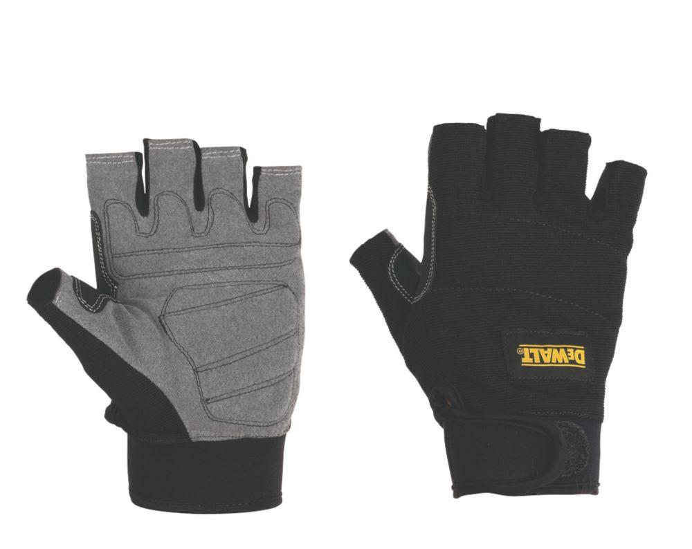 DeWalt Specialist Handling Fingerless Gloves Black Large