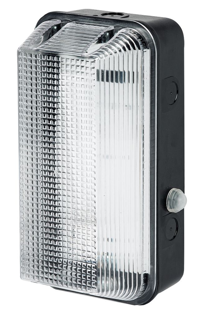 ASD Rectangluar 60W Black Bulkhead with Photocell Sensor