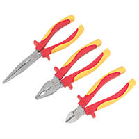 Forge Steel VDE Pliers Set 3 Pieces