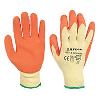 Builders Gloves Orange Large