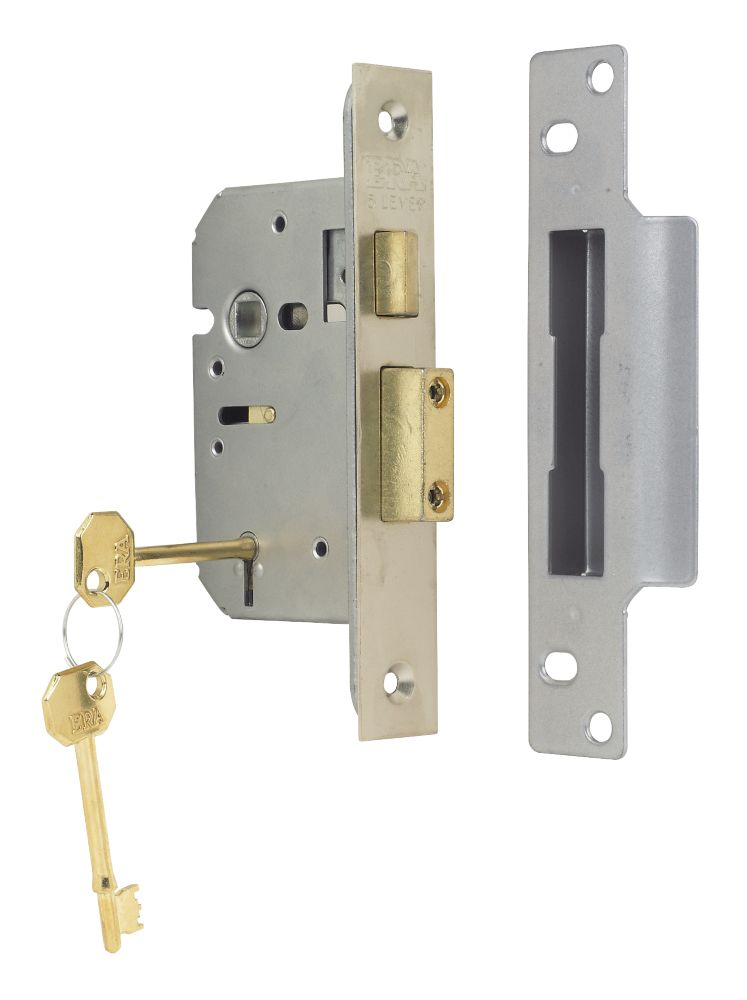 "ERA 5-Lever Mortice Sashlock Steel Satin Nickel 2½"" (64mm)"