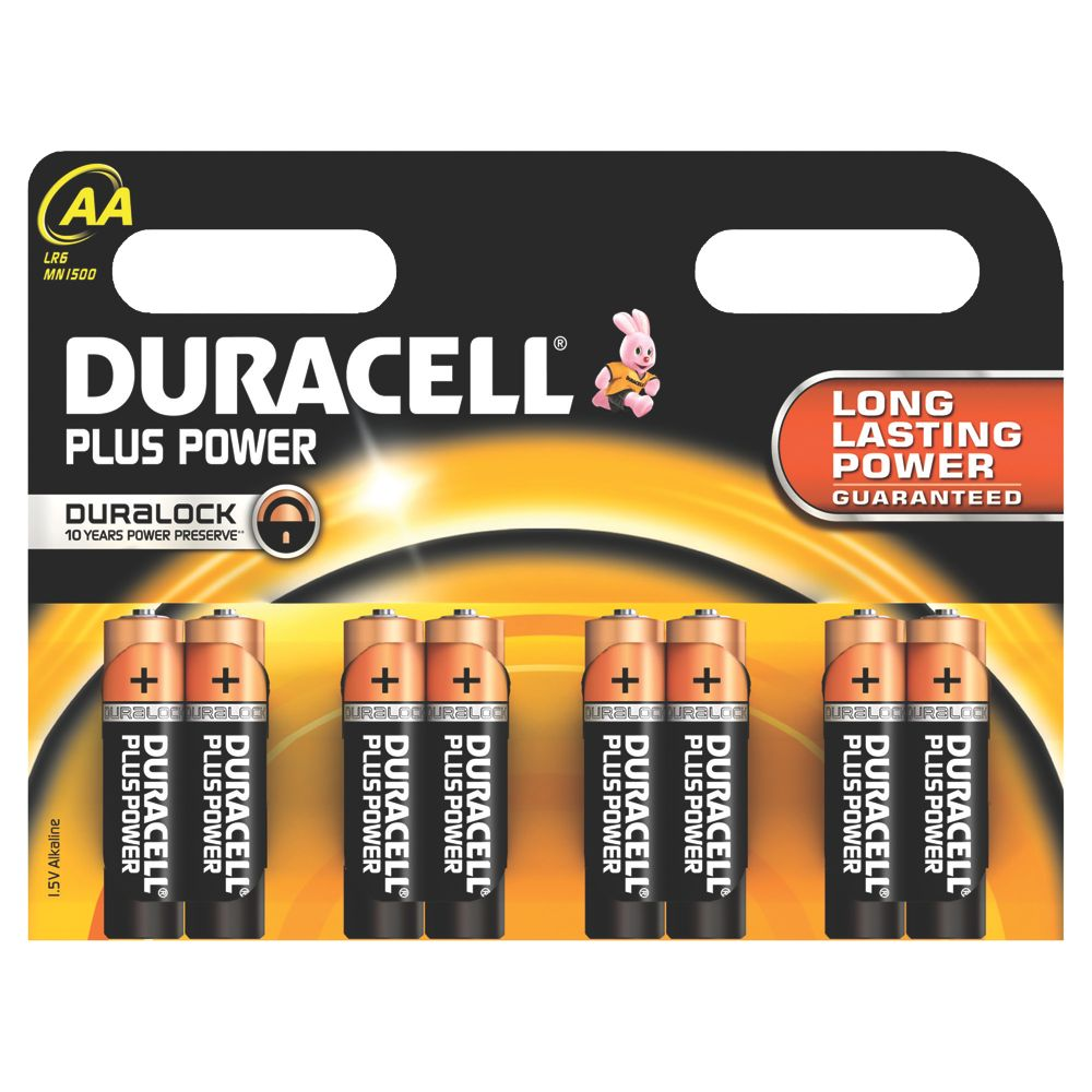 Duracell Alkaline AA Batteries Pack of 8