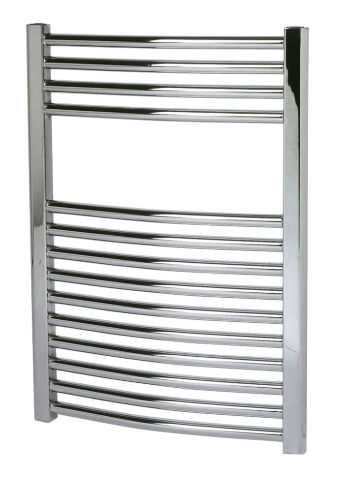 Kudox Curved Towel Radiator Chrome 500 x 700mm 219W 747Btu