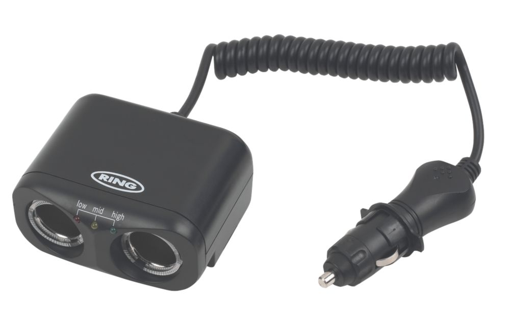 Ring Automotive 8A Twin Multisocket with Battery Analyser
