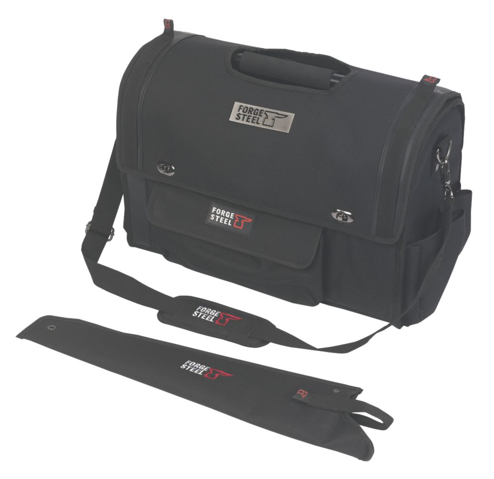 "Forge Steel 19"" Open Tote with Cover"