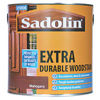 Sadolin Extra Durable Woodstain Semi-Gloss Finish Mahogany 2.5Ltr