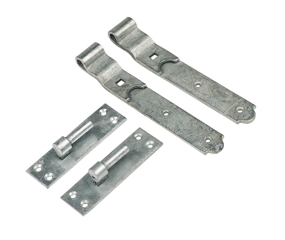 Gate Hinge Pr Cranked Spelter Galvanised 50x630x165mm