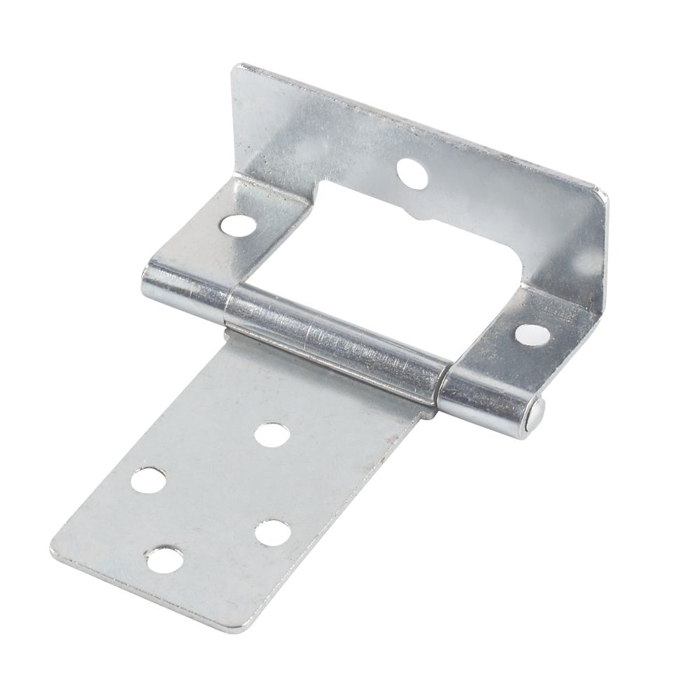 Steel Cranked Hinge Zinc-Plated 50mm Paick of 2