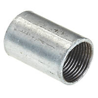 Deta DT31120G Solid Coupler Galvanised 20mm Pack of 10