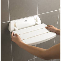 Mira Shower Seat White 355 x 60 x 382mm
