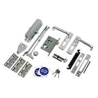 Lever Lock Set Satin Anodised Aluminium
