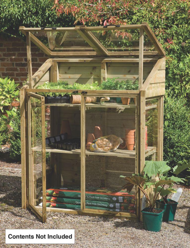 Forest Larchlap Acrylic Mini Greenhouse 1.2 x 0.62 x 1.44m