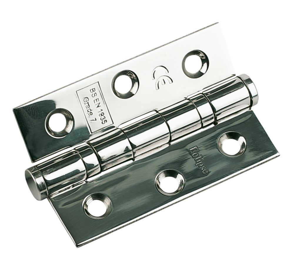 Ball Bearing Hinge Polished Stainless 76mm 1Pr