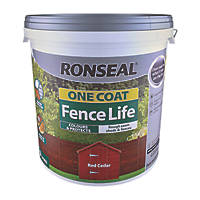 Ronseal One Coat Fence Life Red Cedar 9Ltr