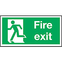 """Fire Exit"" Left Sign 150 x 300mm"