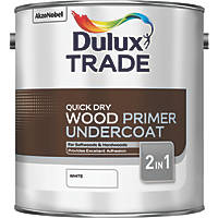 Dulux Trade Trade Quick-Drying Wood Primer Undercoat White 2.5Ltr
