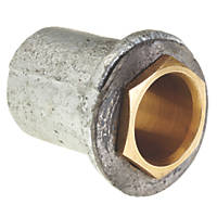 Deta DT31325G Flanged Coupler Galvanised 25mm Pack of 10