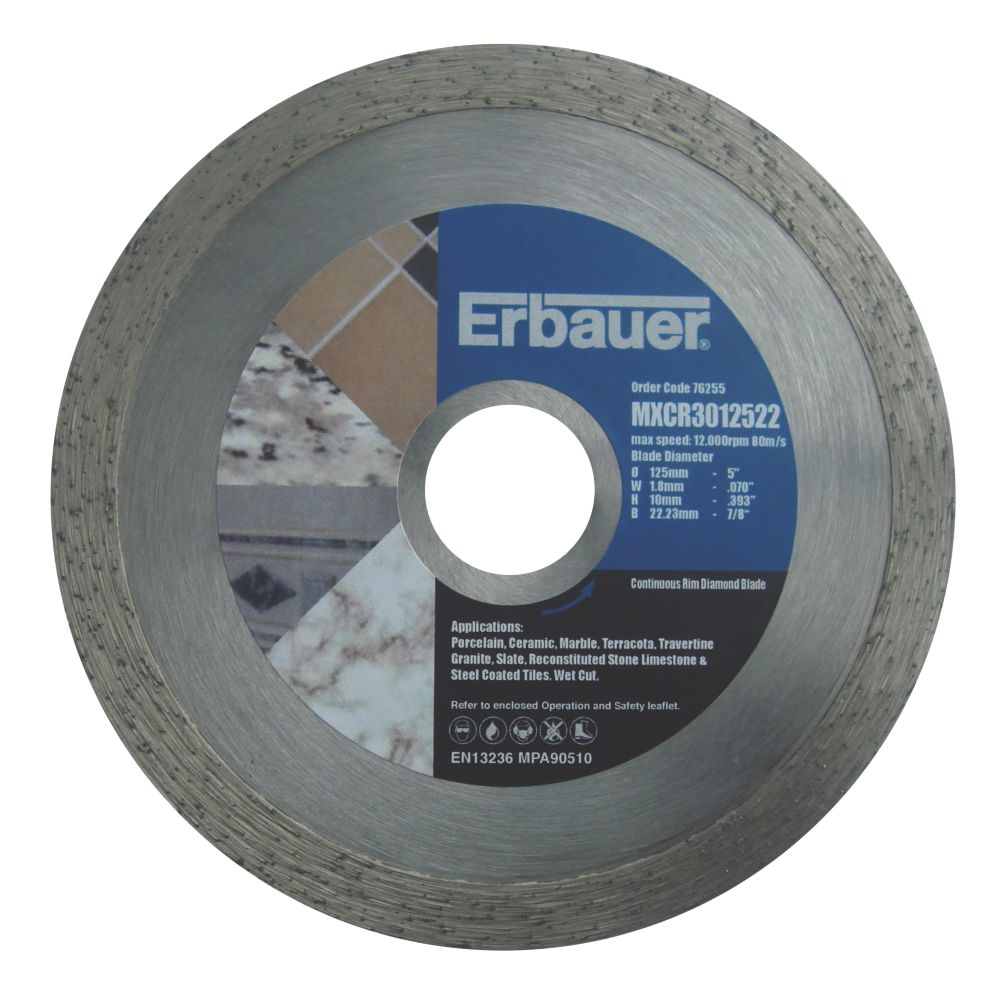 Erbauer Diamond Tile Blade 125mm