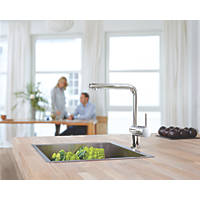 Grohe Flair Touch Kitchen Pull-Out Spray Mono Mixer Tap Chrome