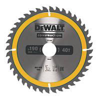 DeWalt Circular Saw Blade 190 x 30mm 40T