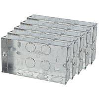 Appleby Galvanised Steel Knockout Boxes 2-Gang 25mm Pack of 5