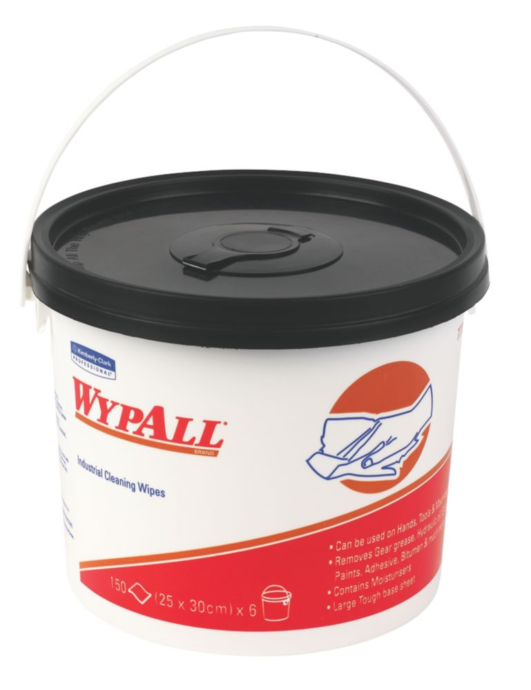 Wypall Industrial Cleaning Wipes Bucket Pack of 150