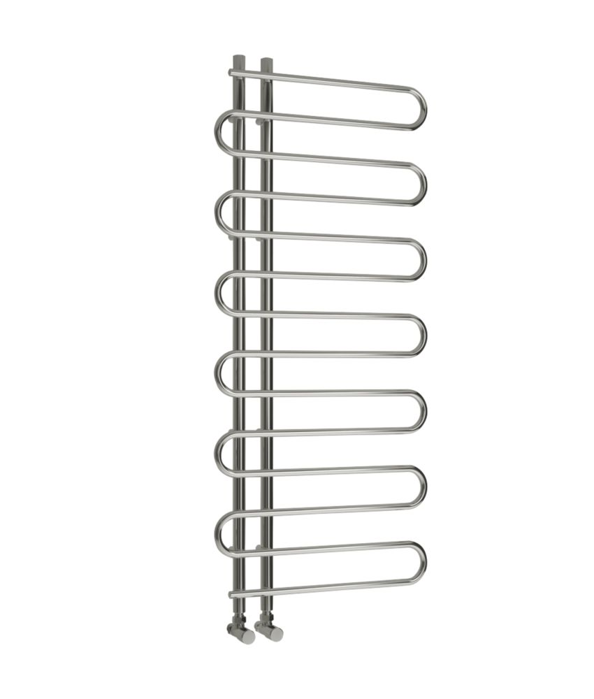 Reina Wave Vertical Designer Radiator Chrome 1400 x 600mm 1125BTU