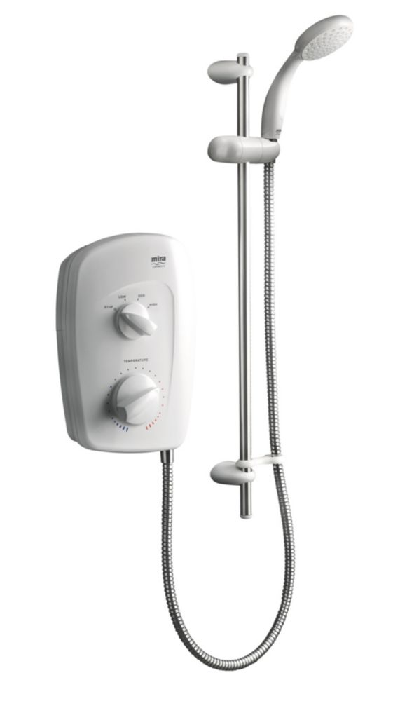 Mira Manual Vista White & Chrome 9.5kW Electric Shower