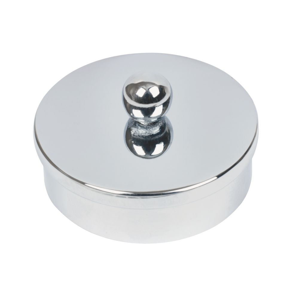 Banister Caps Polished Chrome Pack of 2