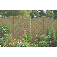 Forest Strasburg Fence Panel Fence Panels 1.82 x 1.8m 3 Pack