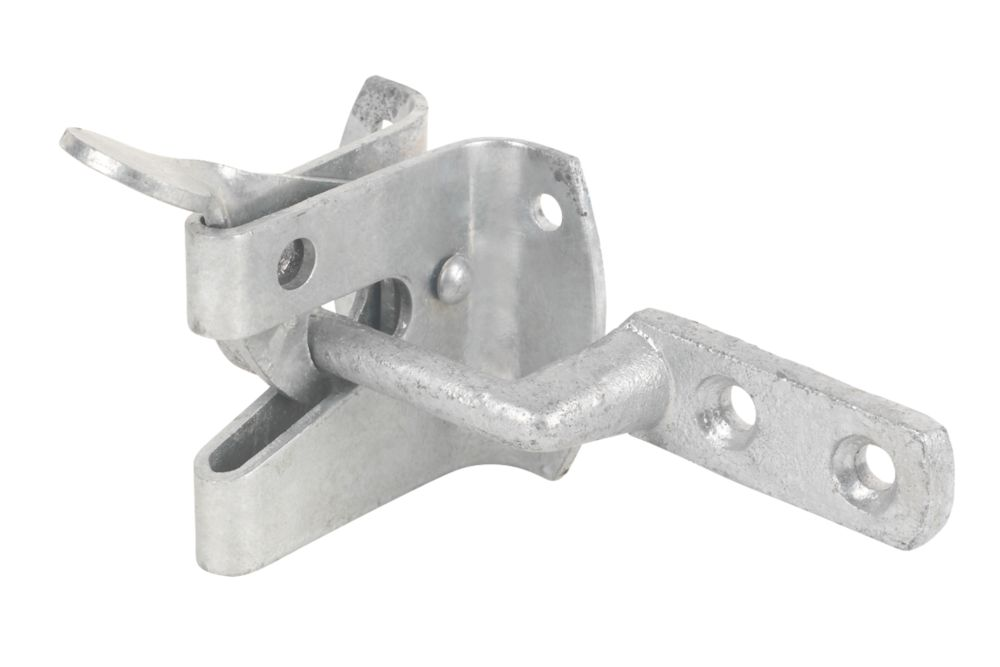 Strong Garden Gate Latch Spelter Galvanised 120mm
