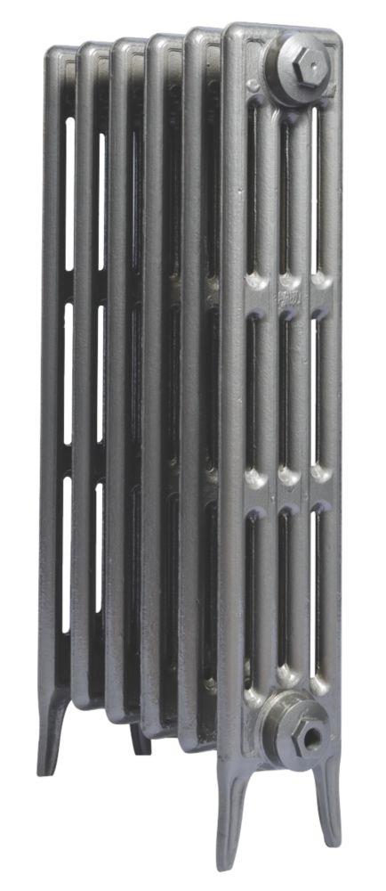 Cast Iron 760 Designer Radiator 4-Column Gun Metal Grey H: 760 x W: 397mm