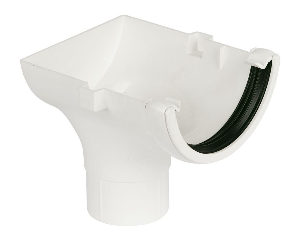 White Stop End Outlet 112mm