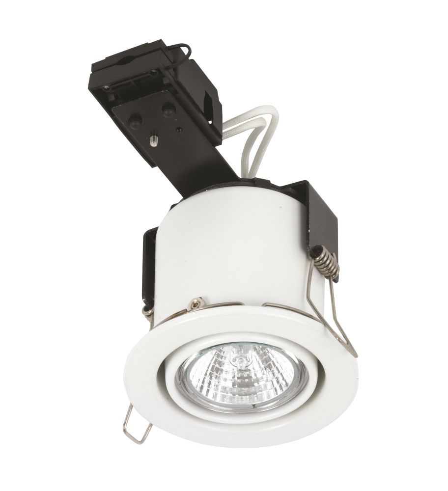 Linolite:Sylvania Adj. Round White 12V Low Voltage Fire Rated Downlight
