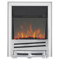 Focal Point Horizon Chrome Switch Control Freestanding Electric Fire