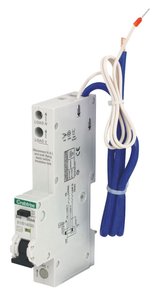 Crabtree 40A 30mA SP RCBO