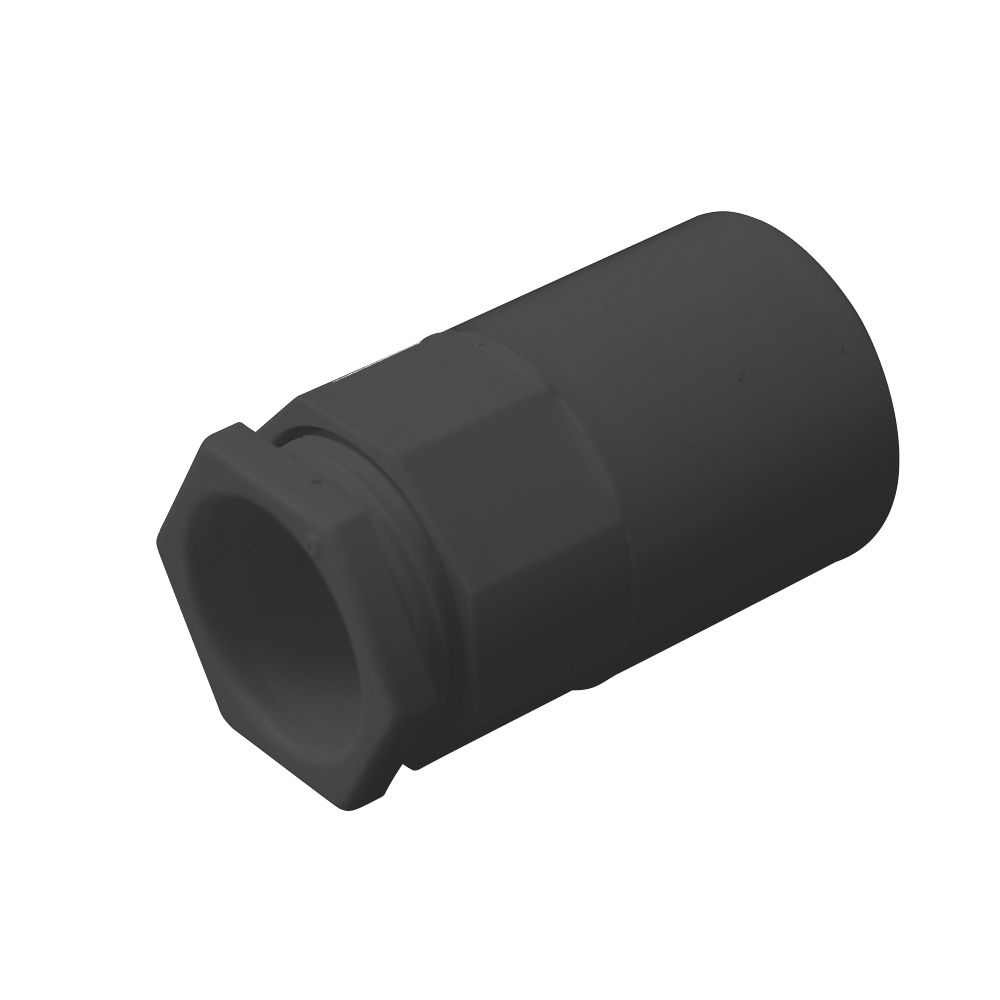 Tower Female Adaptors 20mm Black Pack of 2