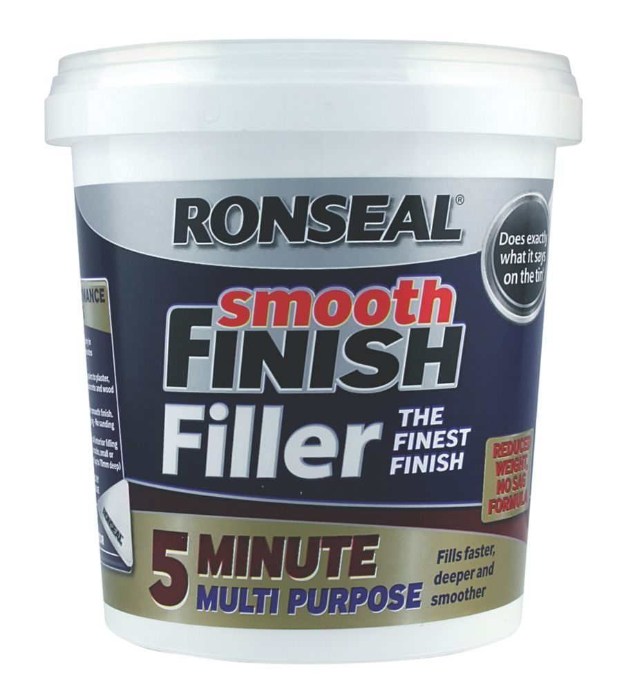 Ronseal 5 Minute Multipurpose Ready Mixed Filler White 600ml