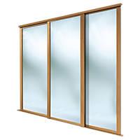 Spacepro 3 Door Framed Sliding Wardrobe Mirror Doors Mirror 2692 x 2260mm 3 Pack