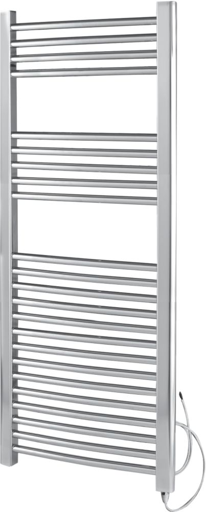 Kudox Pre-Filled Flat Towel Radiator Chrome 500 x 1100mm 250W 853Btu