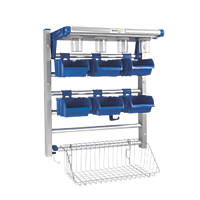 Evertidy Evertidy Workshop Storage Kit Silver & Blue 585 x 330 x 660mm
