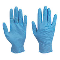 Skytec Utah Nitrile Powder-Free Disposable Gloves Blue Medium 100 Pack