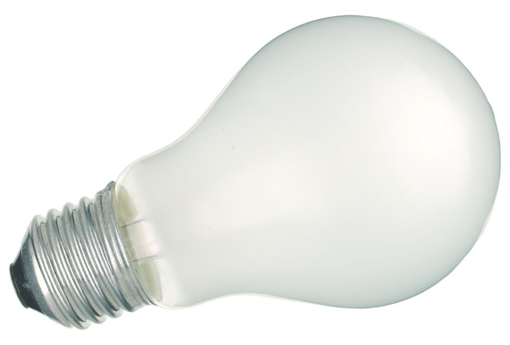 Sylvania Incandescent Rough Service Lamp Pearl ES 560Lm 60W