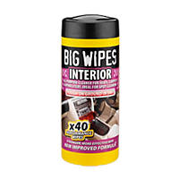 Big Wipes Vehicle Interior Wipes White  40 Pack