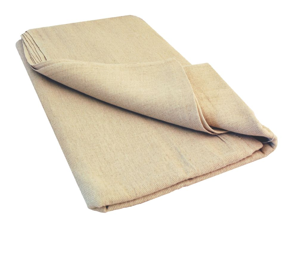 No Nonsense Cotton Twill Dust Sheet 12 x 12'