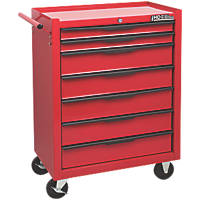 Hilka Pro-Craft 7-Drawer Mobile Trolley with Ball Bearing Drawer Slides